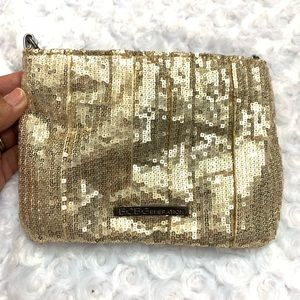 BCBG Gold Sequin Clutch Purse